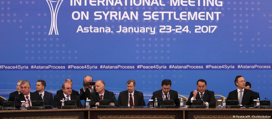 Negociações em Astana, no Cazaquistão, duraram dois dias
