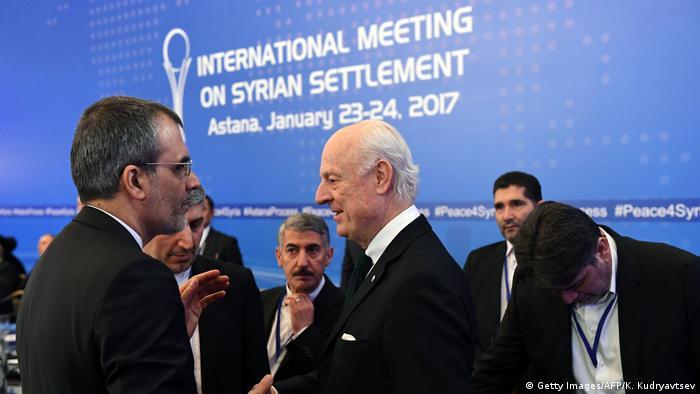 На межсирийских переговорах в Астане, январь 2017 года