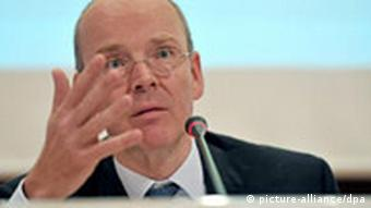 Commerzbank board spokesman Martin Blessing, at an earlier press conference