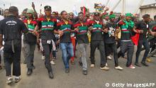 Nigeria pro-Donald-Trump-Kundgebung der Indigenous People of Biafra in Port Harcourt