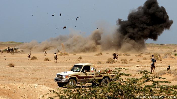 Jemen Regierungstruppen erobern Hafenstadt Mocha am Roten Meer (Getty Images/AFP/S. Al-Obeidi)