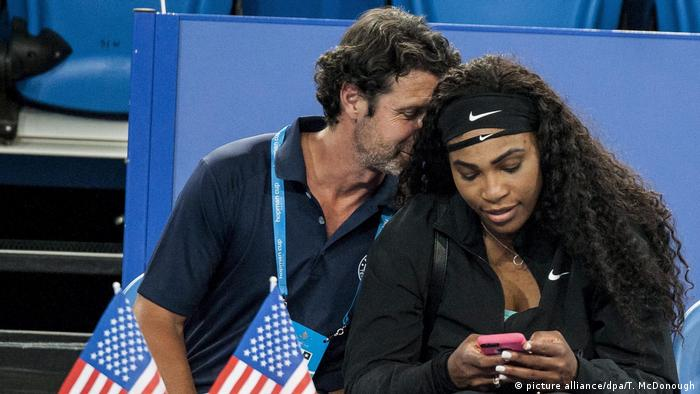 USA Serena Williams und Patrick Mouratoglou (picture alliance/dpa/T. McDonough)