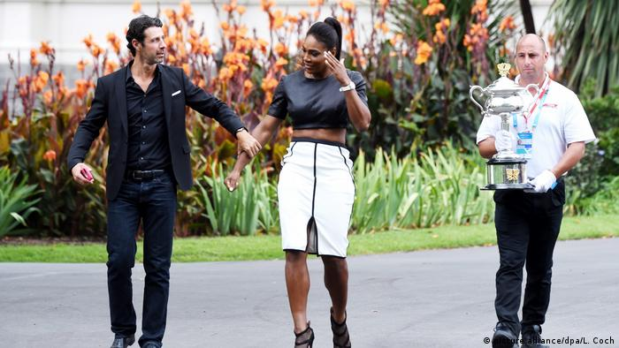 USA Serena Williams und Patrick Mouratoglou (picture alliance/dpa/L. Coch)