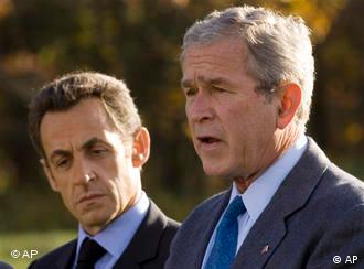 President George W. Bush and President Nicolas Sarkozy