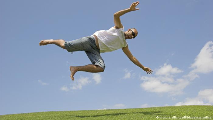 Человек в воздухе