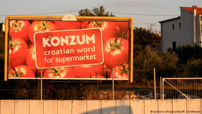Kroatien Werbung für Supermarkt Konzum