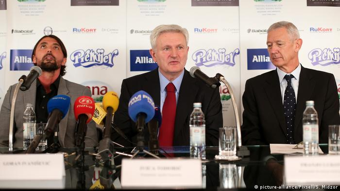 Ivica Todoric, the ex-CEO of Agrokor, center.