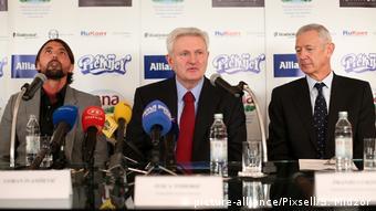 Ivica Todorić s Goranom Ivaniševićem i Franjom Lukovićem na fotografiji snimljenoj 2013.