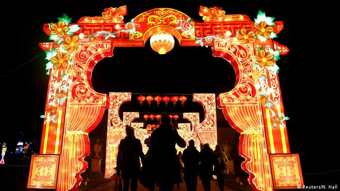 Chinesisches Neujahrsfest 2017 Beleuchtung Chiswick House in London (Reuters/N. Hall)