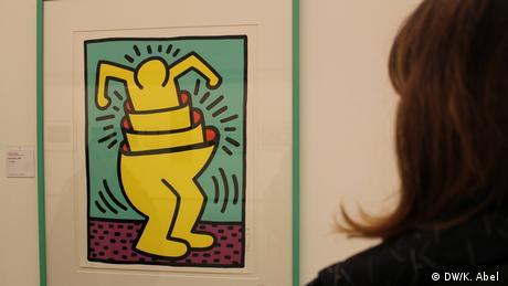 Work by Keith Haring in the Let's Buy It exhibition in Oberhausen (DW/K. Abel )
