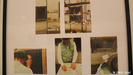 Postcards by Joseph Beuys on display at Let's Buy It in Oberhausen (DW/K. Abel )