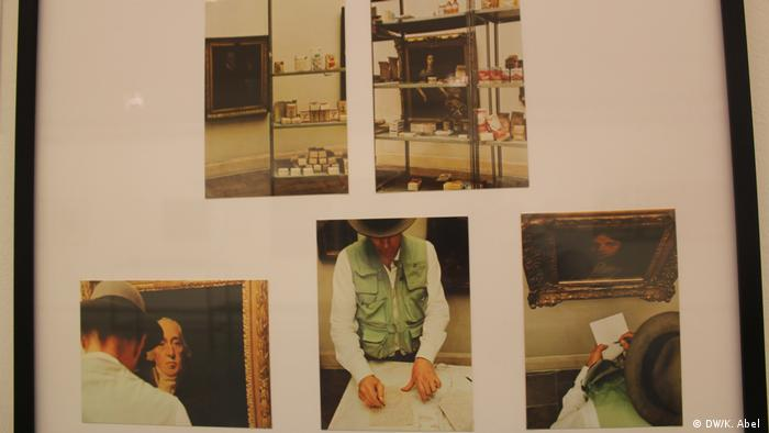 Postcards by Joseph Beuys on display at Let's Buy It in Oberhausen (DW/K. Abel )