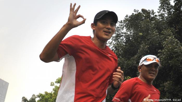 Indonesien Sandiaga Uno Marathontraining (Getty Images/AFP/R. Gacad)