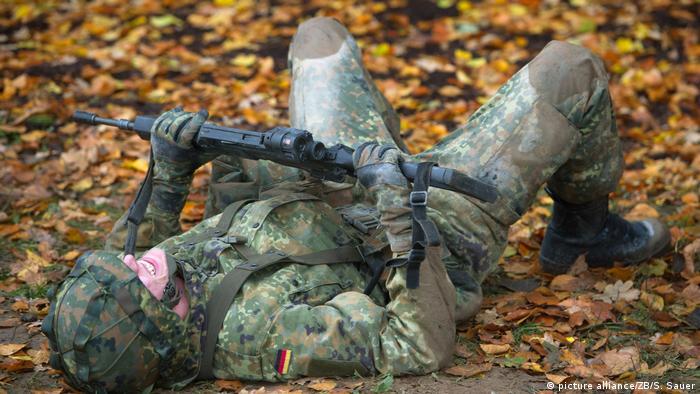 Szeregowiec Bundeswehry podczas szkolenia unitarnego