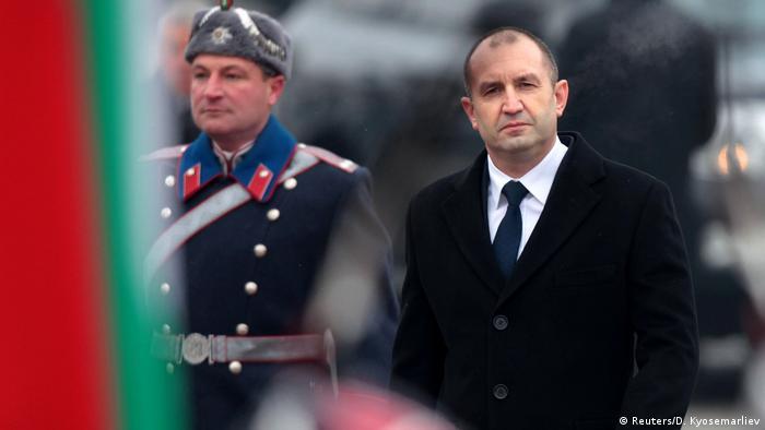 Bulgarient Amtsübergabe Präsident Radew Parade