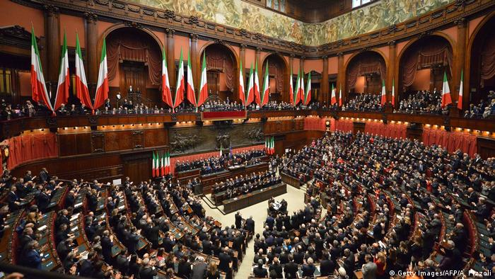 Italien Parlament Sitzung Abgeordnete (Getty Images/AFP/A. Pizzoli)