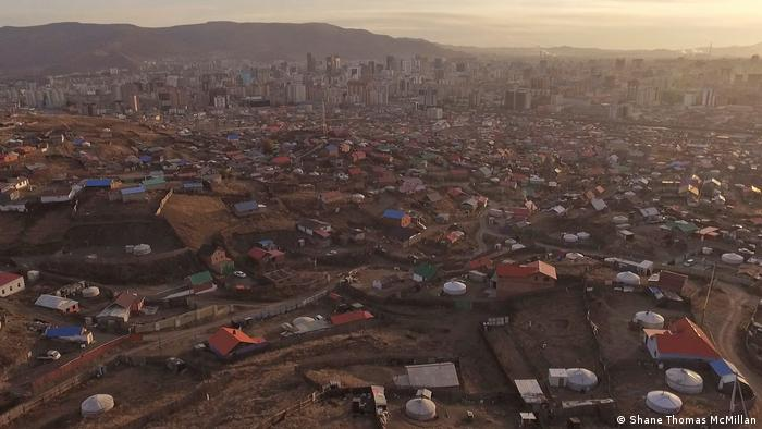 Wide view of the ger district in Ulaanbaatar, Mongolia (Shane Thomas McMillan)
