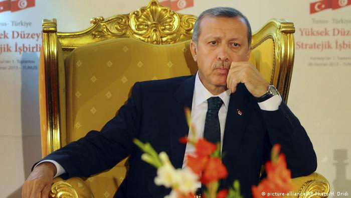 Erdogan on a golden throne