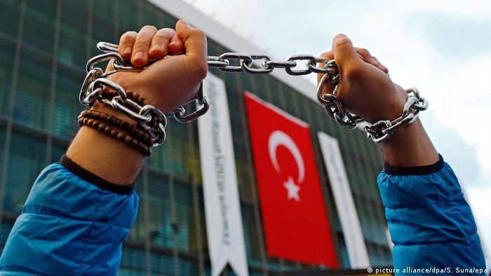 Symbolbild Türkei Einschränkung der Meinungsfreiheit (picture alliance/dpa/S. Suna/epa)