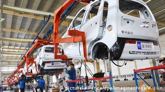 Китайский завод по производству электромобилей