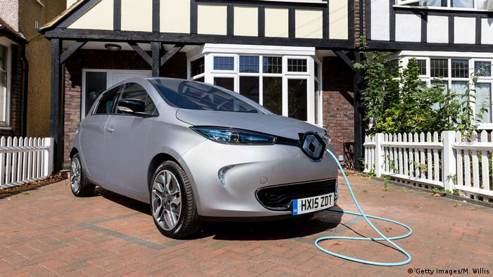 Renault Zoe being charged at a home in London