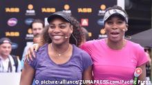 +++Nur im Rahmen der Berichterstattung zu verwenden!+++ January 1, 2017 - Auckland, Auckland, New Zealand - Tennis superstars Serena and Venus Williams during a charity match -up ahead of the ASB Classic tennis tournament |