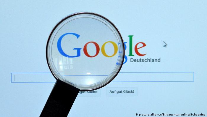 google homepage Bildschirm Lupe