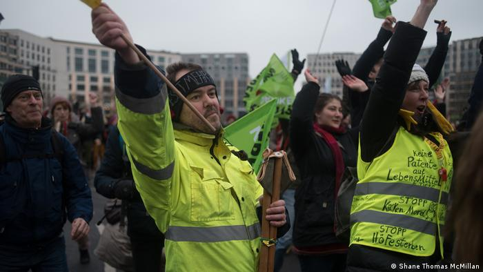 Deutschland Landwirtschaft Demo in Berlin