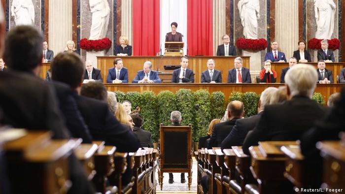 Österreich Vereidigung Präsident Van der Bellen