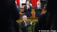 26.01.2017+++ Austrian President Alexander Van der Bellen is applauded by members of the Federal Assembly during his inauguration ceremony in Vienna, Austria, January 26, 2017. REUTERS/Leonhard Foeger