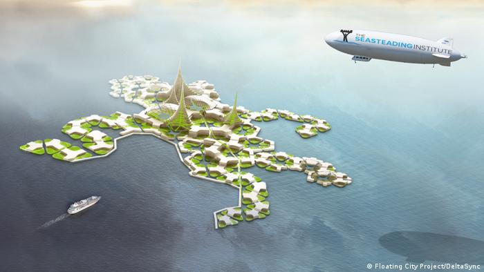 Seasteading Institute - Schwimende Städte (Floating City Project/DeltaSync)