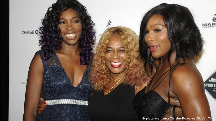 Williams sisters with their mother