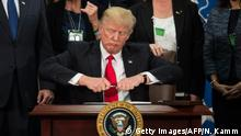 USA Trump unterzeichnet das Dekret zum Grenzzaun mit Mexiko