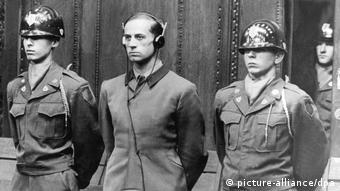 Urteilsverkündung im Nürnberger Ärzteprozeß Karl Brandt