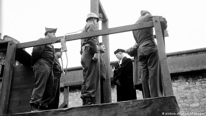 Hinrichtung des Nazi-Kriegsverbrechers Karl Willig 1946 Tötungsanstalt Hadamar