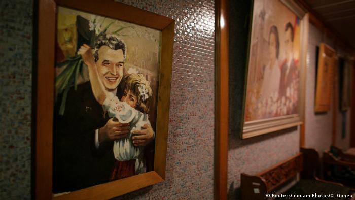 O pictură cu Ceaușescu