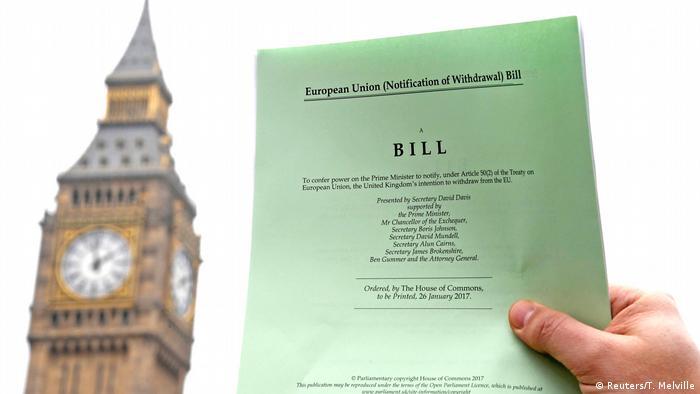 Großbritannien Brexit Artikel 50 - Hintergrund Big Ben, London