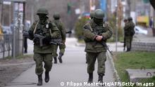Krim Simferopol Russische Soldaten