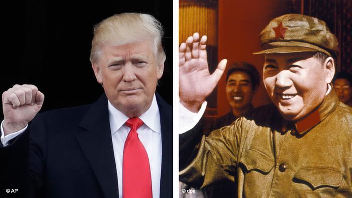 Kombobild Trump Mao