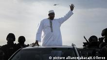 BANJUL, GAMBIA - JANUARY 26: Gambia's president-elect Adama Barrow (C) waves his supporters as he arrives his country from Senegal after the departure of former president of Gambia, Yahya Jammeh, following the presidential elections of Gambia on December 1, at Banjul International Airport in Banjul, Gambia on January 26, 2017. Xaume Olleros / Anadolu Agency |