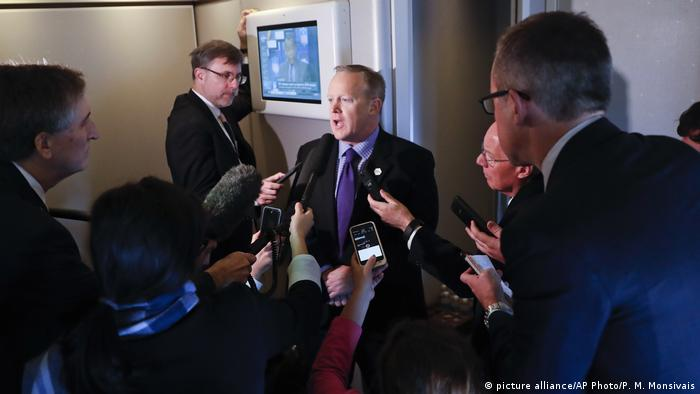USA Republikaner Sprecher Sean Spicer (picture alliance/AP Photo/P. M. Monsivais)
