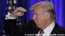 President Donald Trump gestures at the Republican congressional retreat in Philadelphia, Thursday, Jan. 26, 2017. (AP Photo/Matt Rourke)  