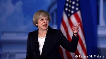 USA Theresa May in Philadelphia (Reters/M. Makela)