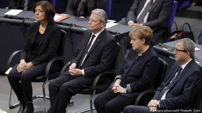 De izqda. a dcha: Malu Dreyer, Jaochim Gauck, Angela Merkel, Andreas Vosskuhle.