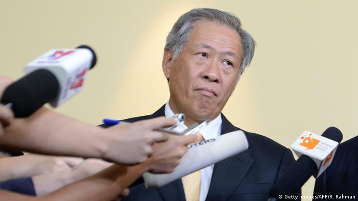 Singapur Verteidigungsminister Ng Eng Hen (Getty Images/AFP/R. Rahman)
