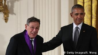 Philip Glass with Barack Obama (Getty Images/A. Wong)
