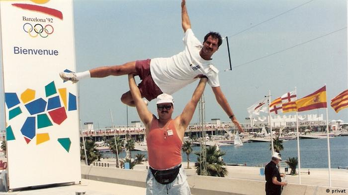 Spanien Brüder Rome und Talon Milan in Barcelona 1992 (privat)
