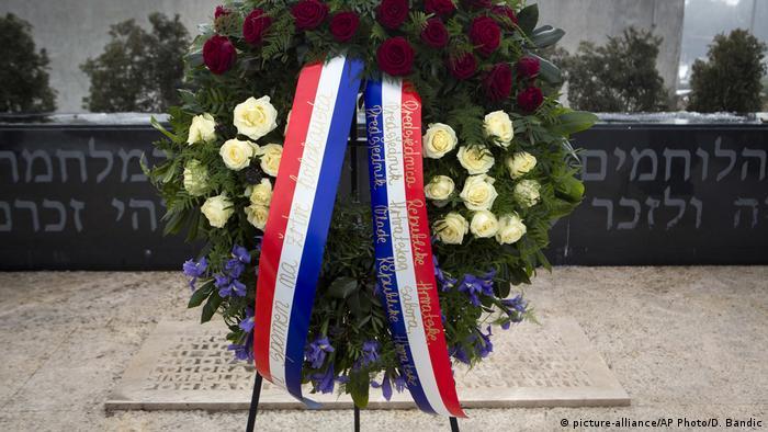 Kroatien Holocaust Gedenktag in Zagreb (picture-alliance/AP Photo/D. Bandic)