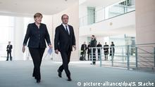 Angela Merkel und Francois Hollande in Berlin