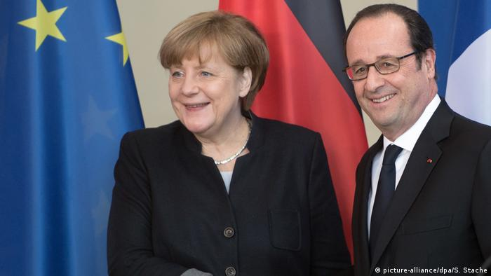 Berlin Angela Merkel & Francois Hollande (picture-alliance/dpa/S. Stache)